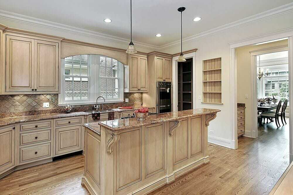 Kitchen island plans with light wood