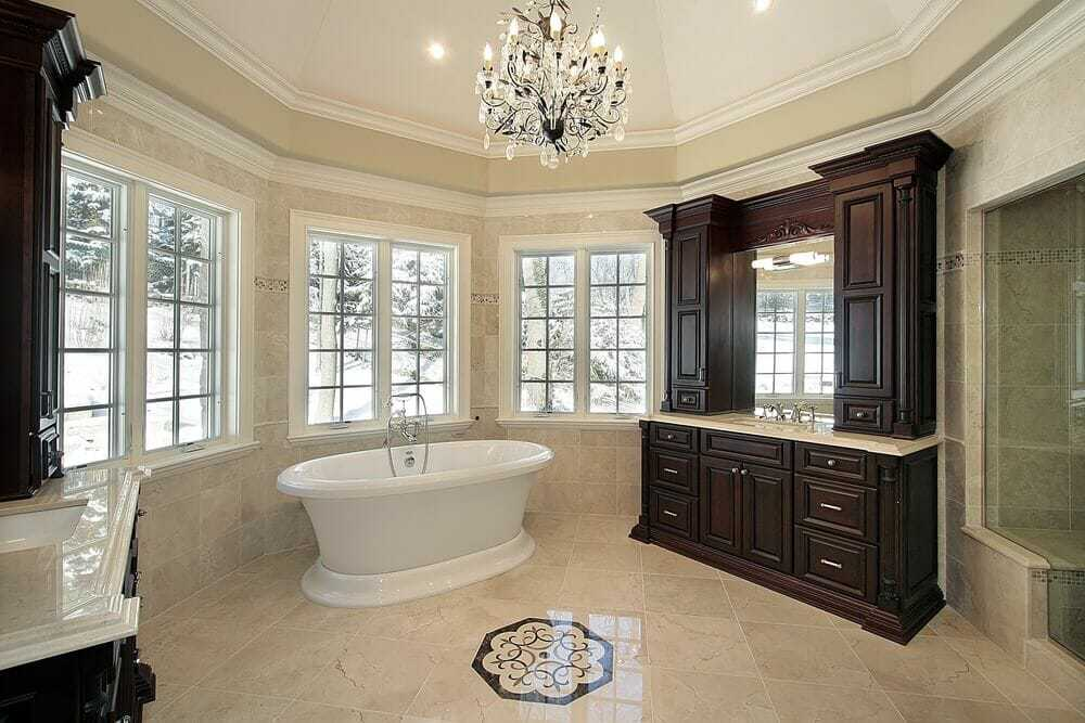 Sometimes its all about the chandelier. With a beautiful vaulted ceiling its hard to image this is somewhere you would every want to leave.
