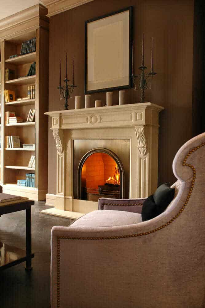 modern stone fireplaces pictures