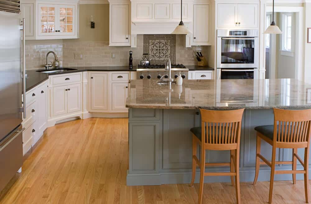 Colorful kitchens and kitchen islands