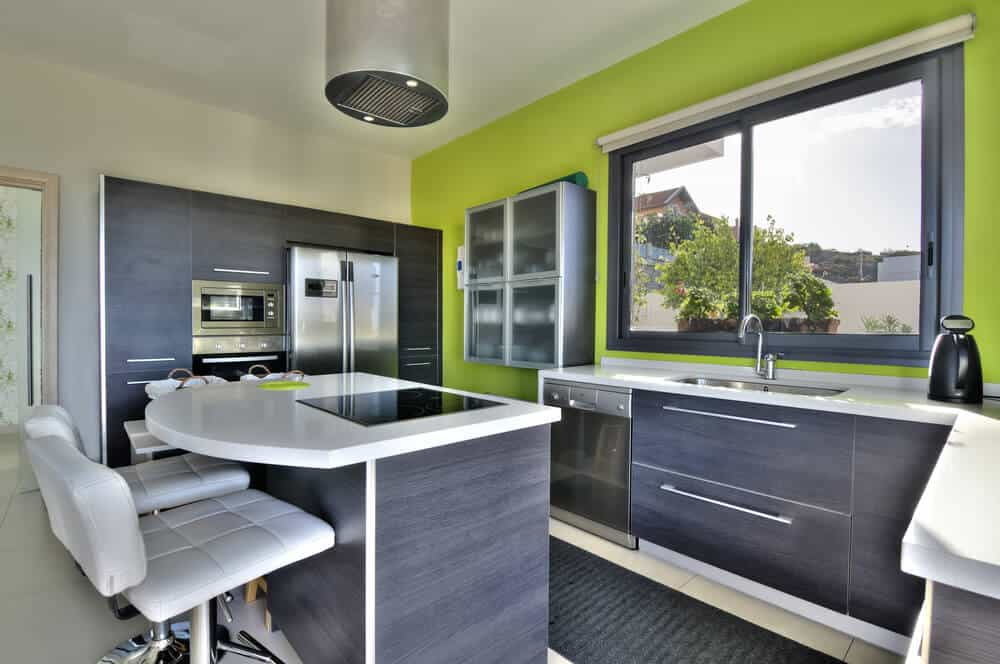 Two tone kitchen colors
