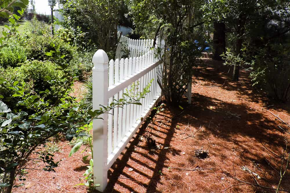 A pvc fence makes a great garden fence because of it's easy set up and great looks.