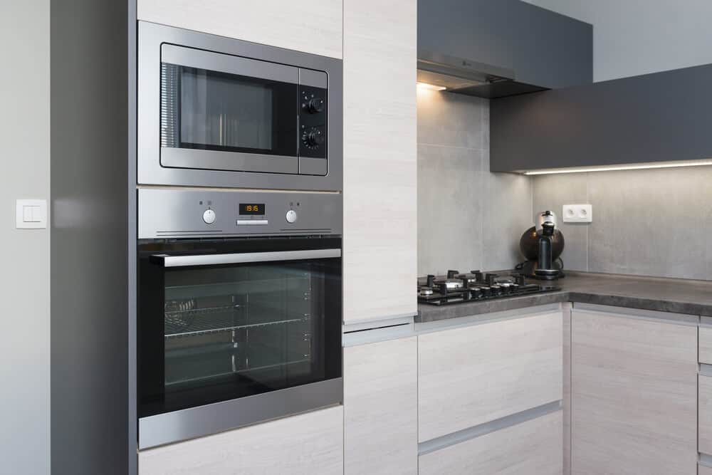 Built in ovens embedded in your cabinets higher up can be better for your back and knees.