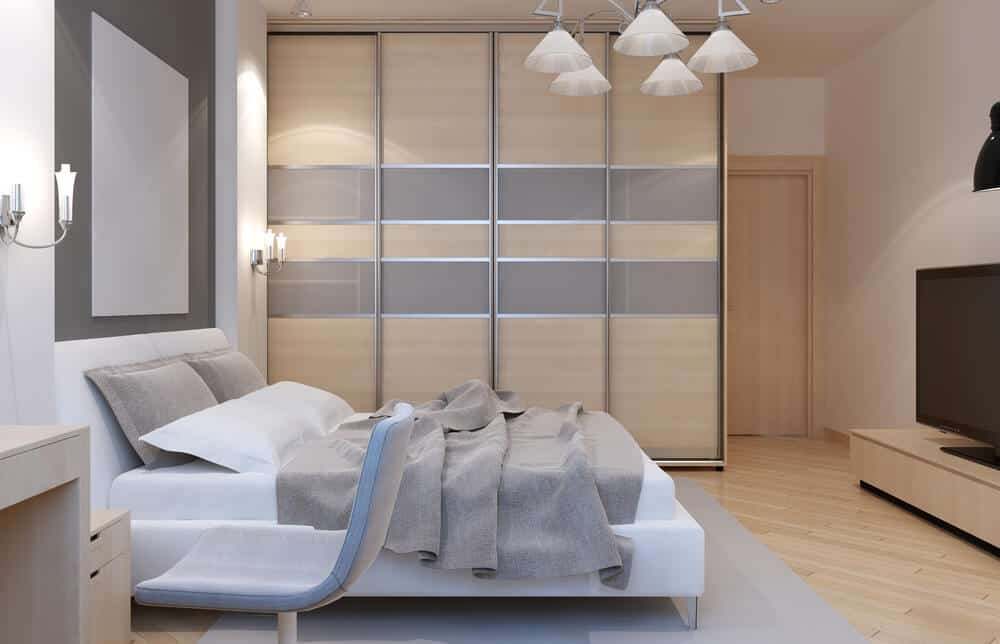 Use neutral colors with modern furniture for a room filled with serenity.