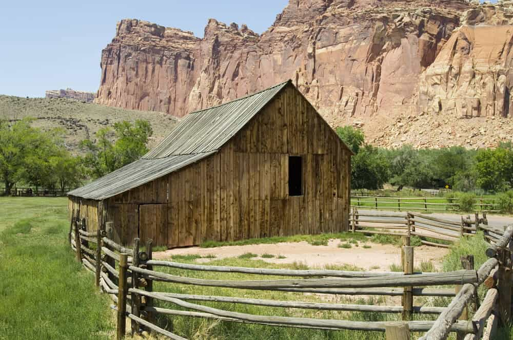 These fences are very common to see with along with old barns to help contain livestock.