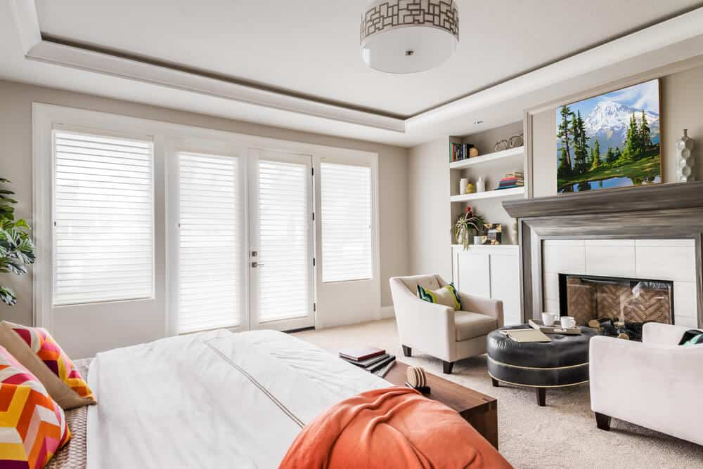 Master bedrooms with fireplaces and reading nooks