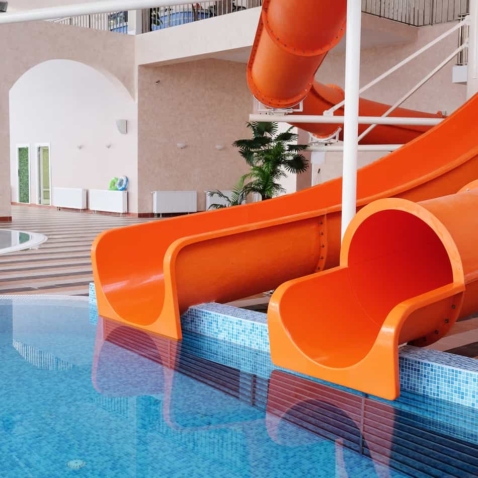 Who wouldn't love to have their own water slide inside their home and their indoor swimming pool? Maybe these ones are a little ambitious for a home swimming pool, but they'd be a whole lot of fun, wouldn't they?