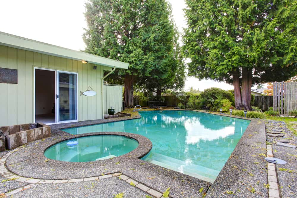 This small circle pool fits great with the slightly larger pool. If you have more space for a larger pool the smaller one can be an added relaxation space instead of anything you want for real swimming.